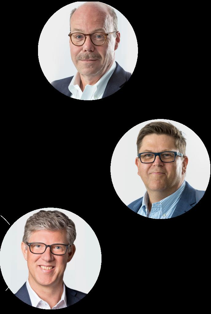 Vorstand nicos AG: Axel Metzger, Thomas Brosch, Robert Holm